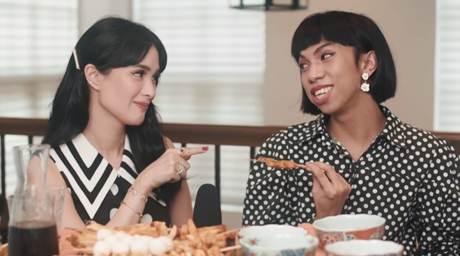 WATCH: Heart Evangelista tries isaw in funny vlog with Mimiyuuuh