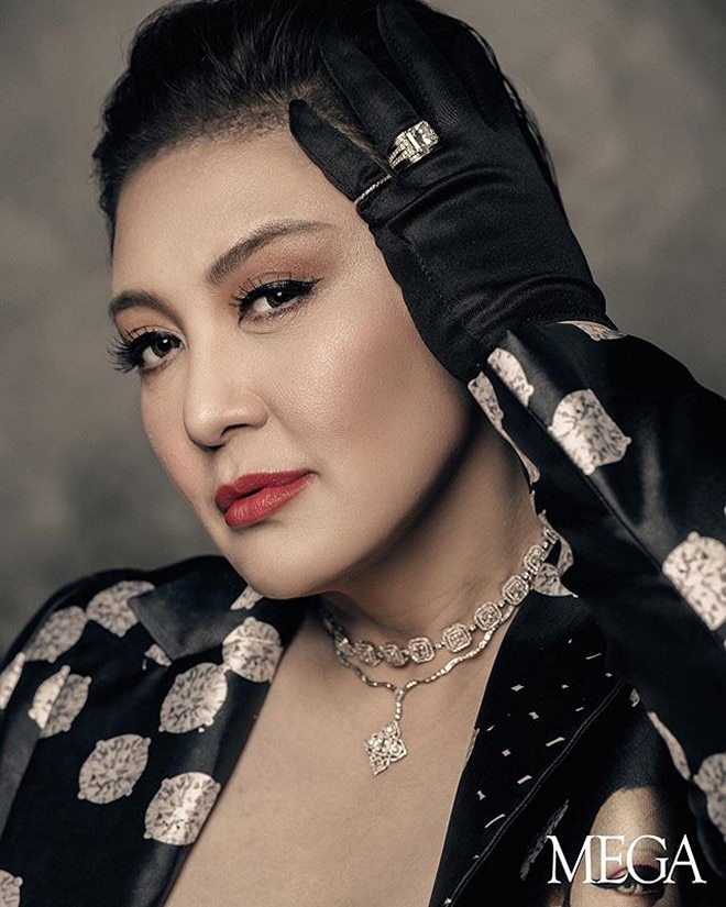 Sharon Cuneta shares her edgy new look during her photo shoot with Regine Velasquez.
