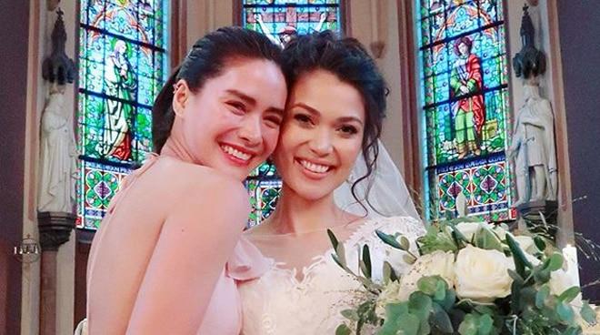 LOOK: Erich Gonzales attends wedding of SCQ batchmate Vanessa Grindrud