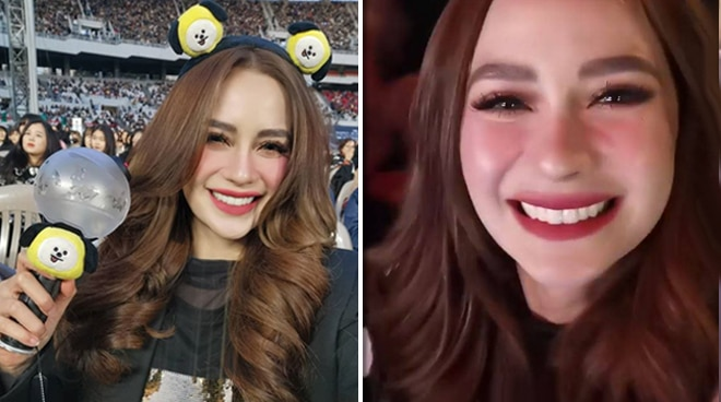 Arci Munoz turns emotional at K-Pop group BTS' concert in Korea