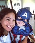 Kaye Abad with her son