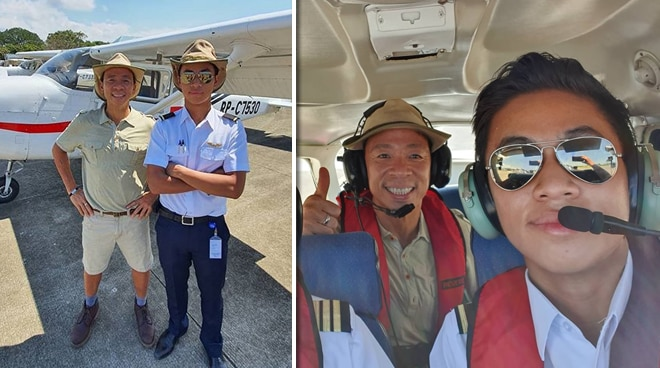 Proud dad! Kim Atienza takes first flight with son as his pilot