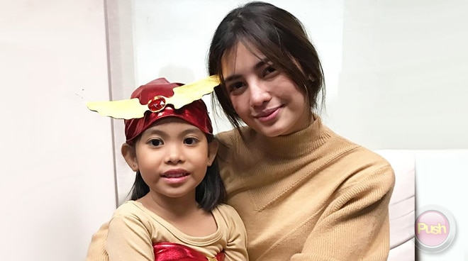 CUTE! Jane de Leon, spotted with kid wearing a Darna costume for Halloween