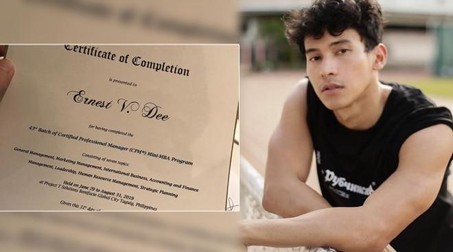Enchong Dee completes mini-MBA program