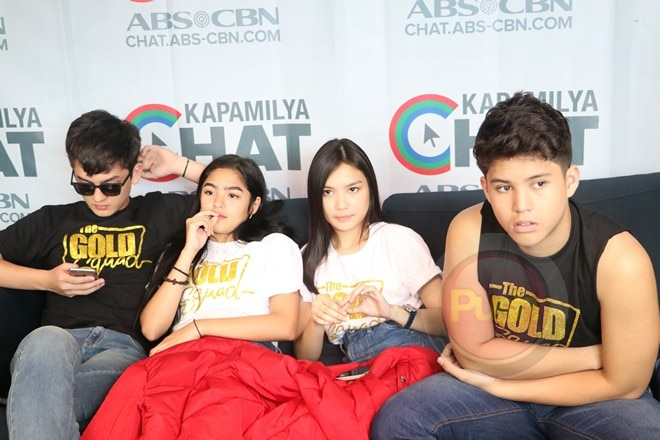 The Gold Squad comprises of Kadenang Ginto stars Seth, Andrea, Francine and Kyle.