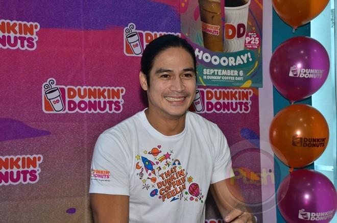 Piolo Pascual celebrates Dunkin' Coffee Day.
