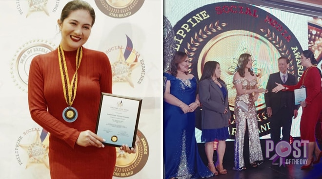 Dimples Romana awarded as Most Trending Actress of 2019