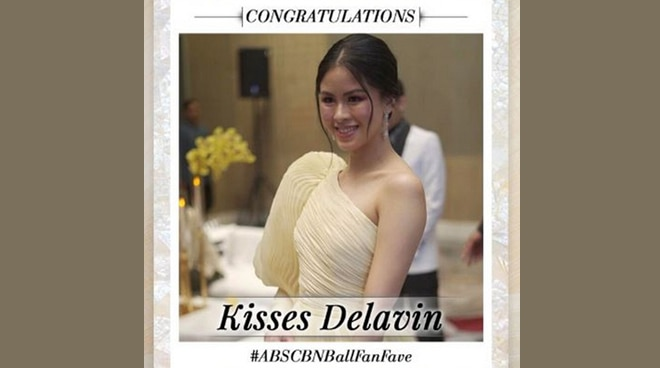 Kisses Delavin thanks fans for winning ABS-CBN Ball 2019 Fan Fave