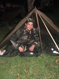 Airman Ejay Falcon during his training as an army reservist for the Philippine Air Force