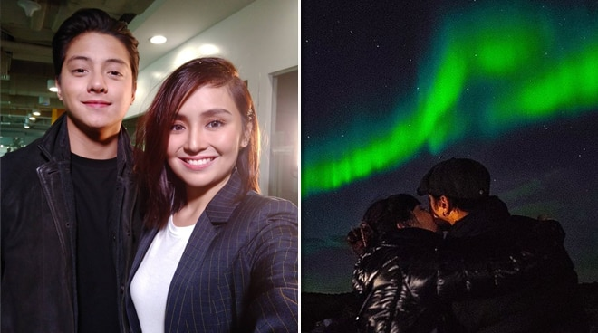 LOOK: Kathryn Bernardo and Daniel Padilla get to see the northern lights in Iceland