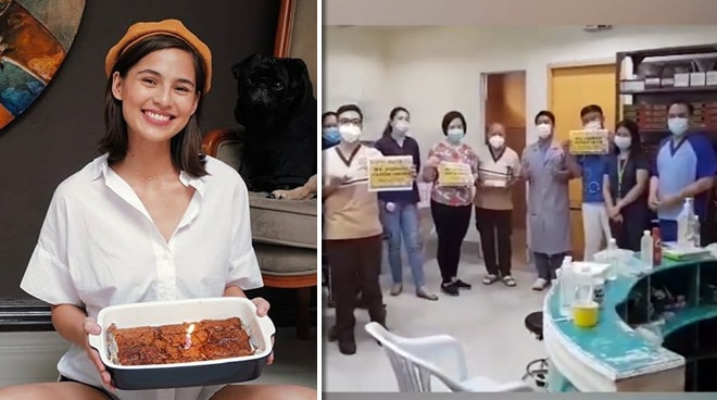 Jasmine Curtis Smith shares her birthday blessings with frontliners