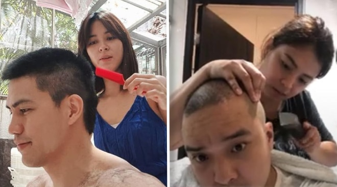 BUZZ CUTS: Angel Locsin, Bianca Gonzalez, and other celebs give haircuts at home