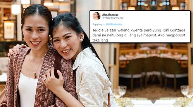 'I'm so proud of my generous ate!': Alex Gonzaga defends sister Toni from bashers