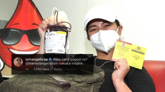 Celebrities praise Angel Locsin as she donates blood to Philippine Red Cross amid COVID-19 pandemic
