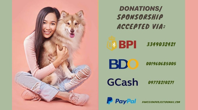 Film actress holds fundraising event for stray animals this ECQ