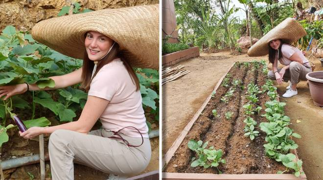 Cheska Kramer grows food in her backyard