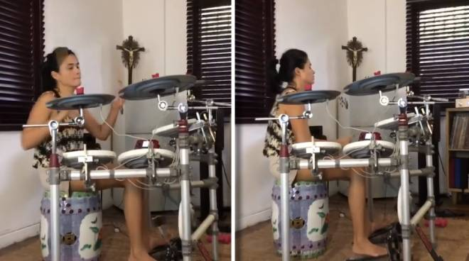 WATCH: Yam Concepcion shows off her drum skills