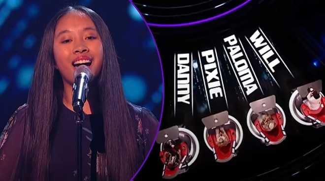 WATCH: Pinay teen gets four-chair turn for her rendition of 'Never Enough' on 'The Voice Kids UK'
