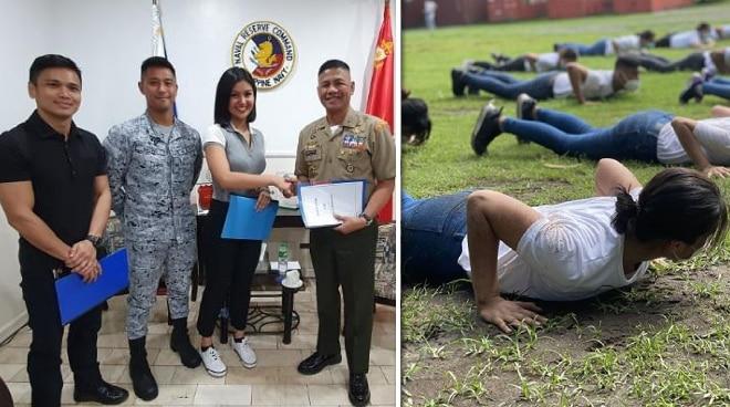 Winwyn Marquez undergoes naval reservist training as class president