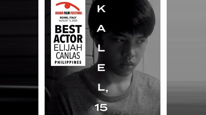 Elijah Canlas, Best Actor sa 2020 Asian Film Festival
