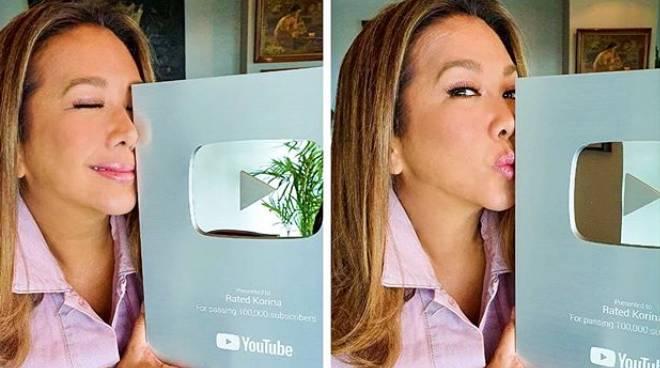 LOOK: Korina Sanchez shows off Silver Creator Award from YouTube