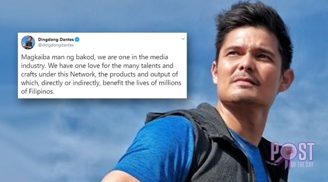 Dingdong Dantes supports ABS-CBN amid franchise issue