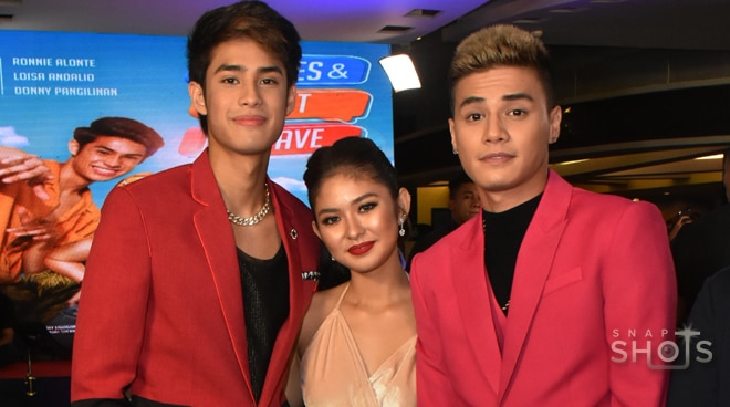 Young celebrities fill 'James & Pat & Dave' premiere night