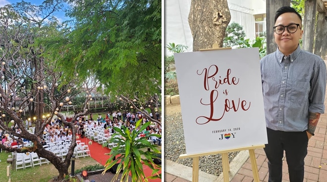 Ice Seguerra performs at wedding of more than 140 LGBTQ+ couples
