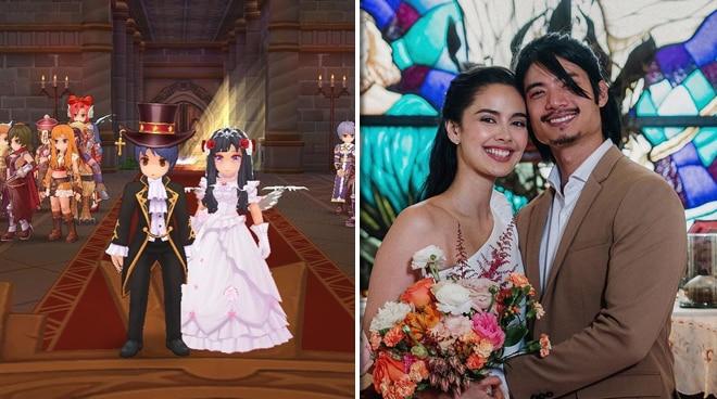 LOOK: Megan Young, Mikael Daez get married in online game