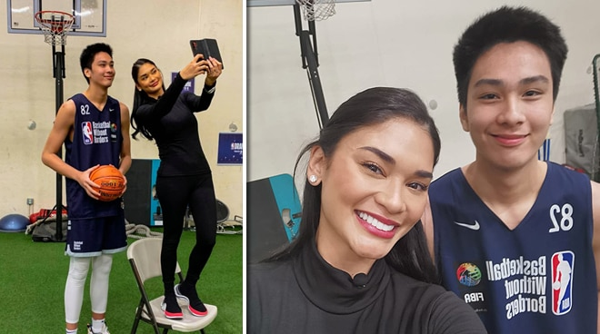 LOOK: Pia Wurtzbach meets basketball phenom Kai Sotto
