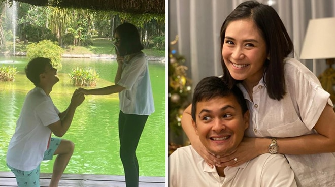 Engagement photo? Picture of Matteo Guidicelli down on one knee for Sarah Geronimo surfaces