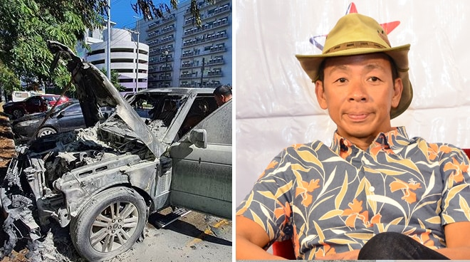 Kim Atienza's car ablazed in BGC
