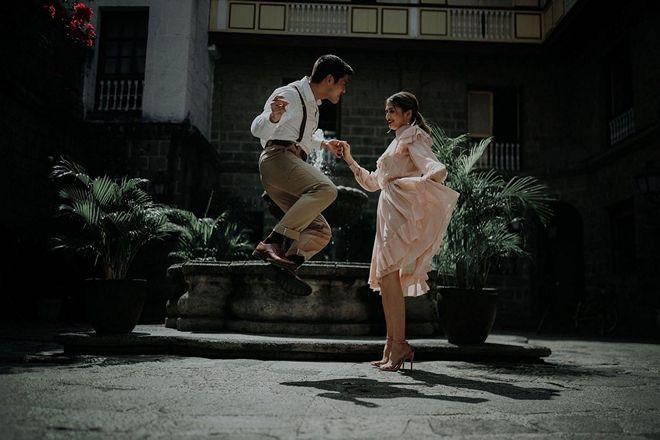 'Pamilya Ko' actor JC De Vera goes classic for their couple shoot in Jones Bridge in Manila.