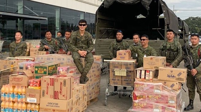 2nd Lieutenant Matteo Guidicelli joins Philippine Army's relief distribution operations