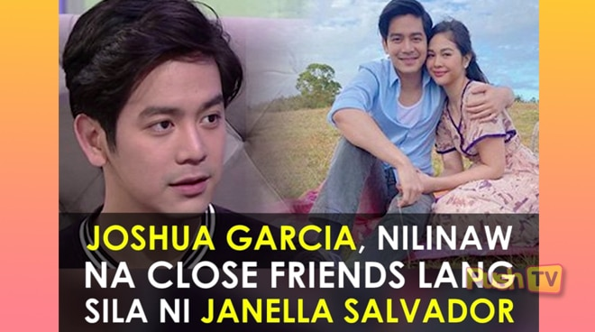 Joshua Garcia, nilinaw na close friends lang sila ni Janella Salvador | Push TV