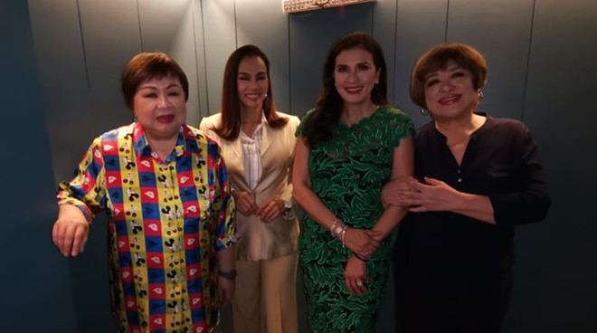 Pop Diva Kuh Ledesma and Divine Diva Zsa Zsa Padilla share the stage with Mitch Valdes and Nanette Inventor for Diva2DiValentines