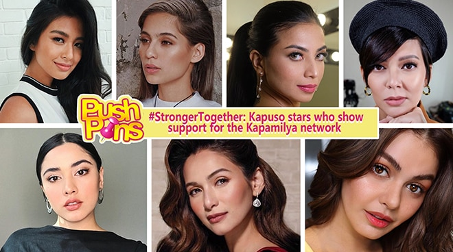 #StrongerTogether: Kapuso Stars Who Show Support for the Kapamilya Network | Push Pins