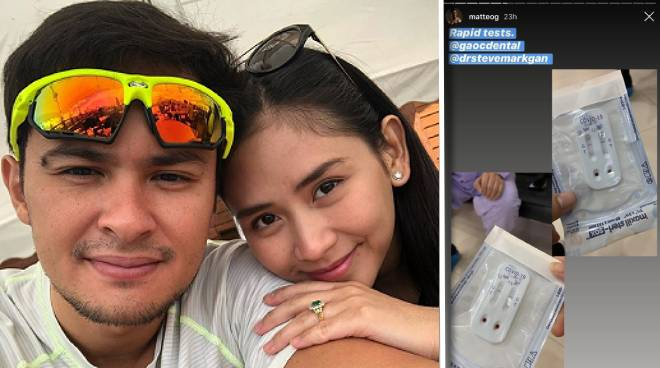 LOOK: Sarah Geronimo, Matteo Guidicelli test negative in COVID-19 rapid testing