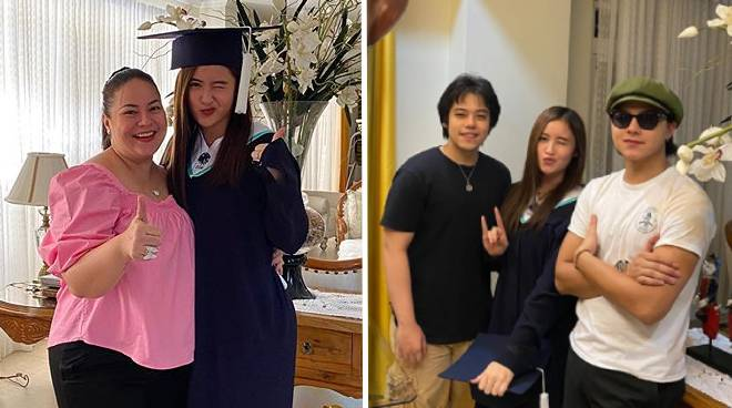 Daniel Padilla's sister Magui graduates from high school at home
