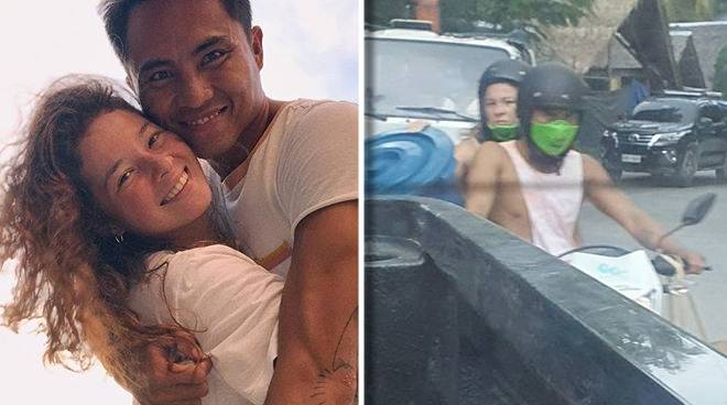 Photo of Andi Eigenmann back riding a motorcycle while carrying a 'balde' goes viral