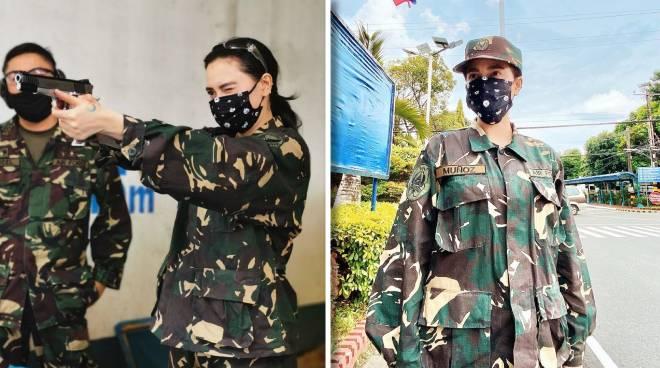 Arci Muñoz undergoes Basic Citizen Military Training