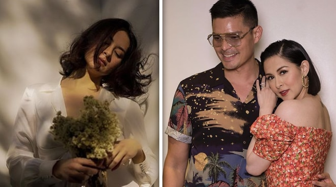 Dingdong Dantes photographs Marian Rivera's new flower collection
