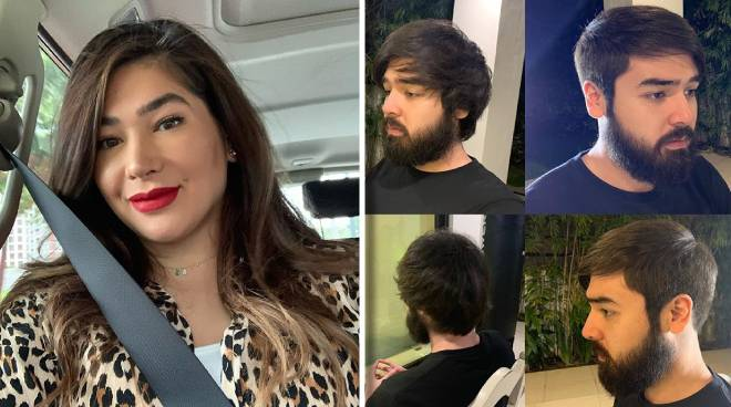 LOOK: Jackie Forster trims hair and beard of son Andre Paras