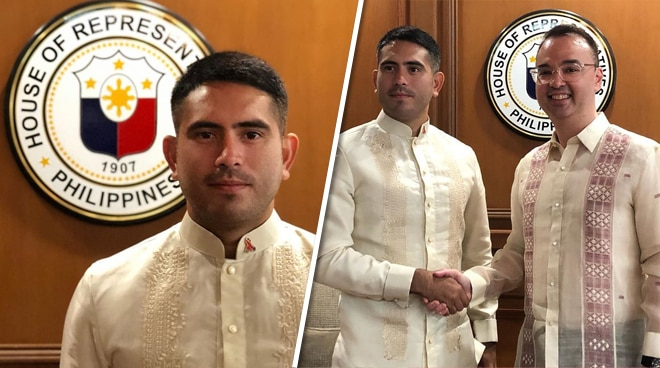Gerald Anderson visits the House of Representatives