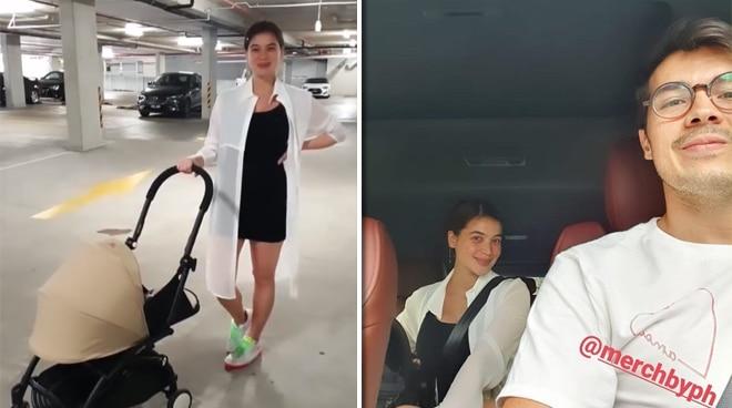 LOOK: Anne Curtis, Erwan Heussaff run errands with baby Dahlia in Australia