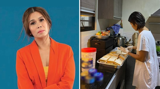 LOOK: Pokwang prepares food for COVID-19 checkpoint officers