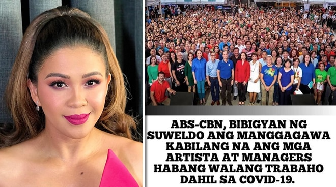 Melai Cantiveros salutes ABS-CBN for reassuring her pay despite program suspension due to COVID-19