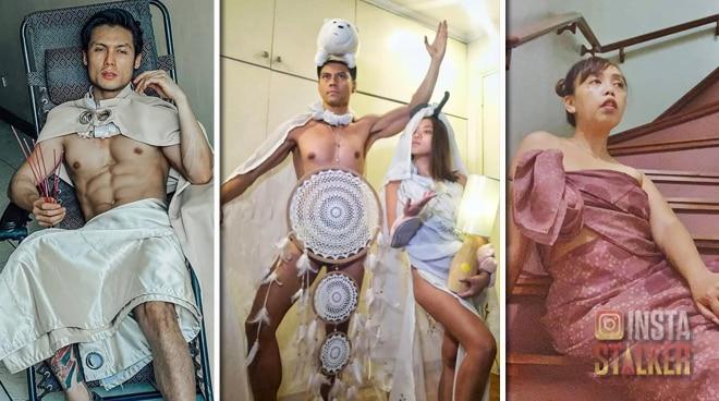 Kim Molina, Jerald Napoles, and friends share their 'Kurtina Couture' looks during quarantine