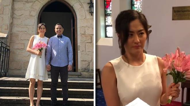 WATCH: A tearful Jinri Park and her husband exchange wedding vows