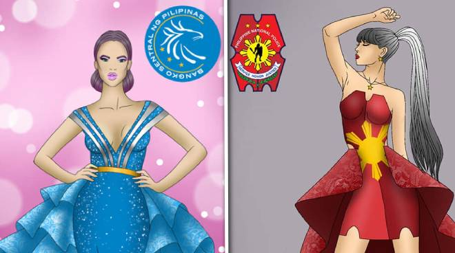 LOOK: Fashion illustration inspired by logos of government agencies goes viral